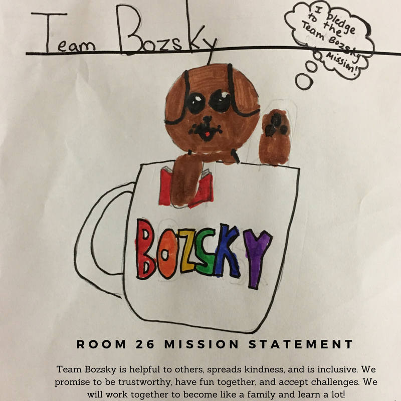 Team Bozsky's Class Logo and Mission Statement