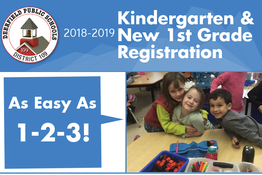 Kindergarten registration is open in District 109