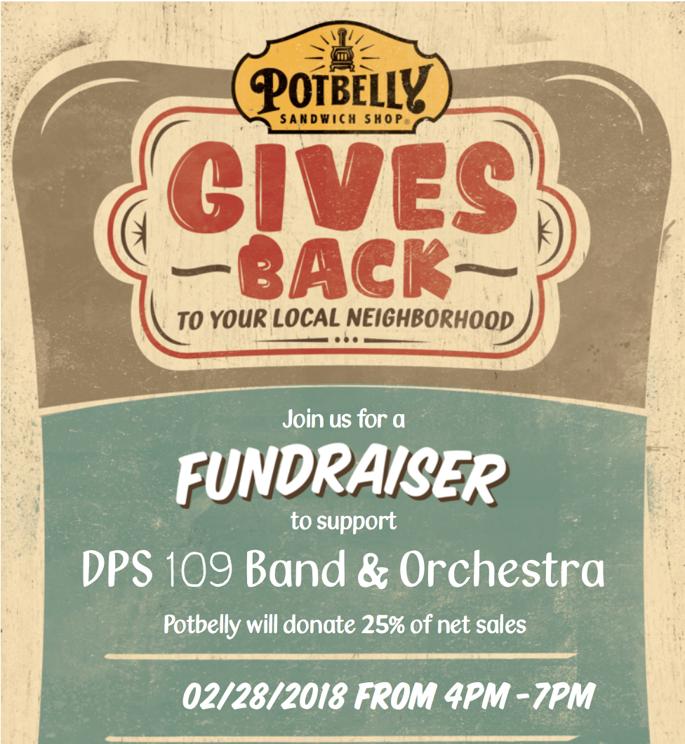 Potbelly Fundraiser for District 109 Band & Orchestra