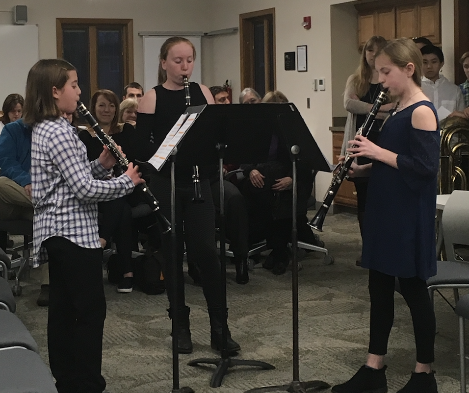 Student musicians perform for the Board of Education