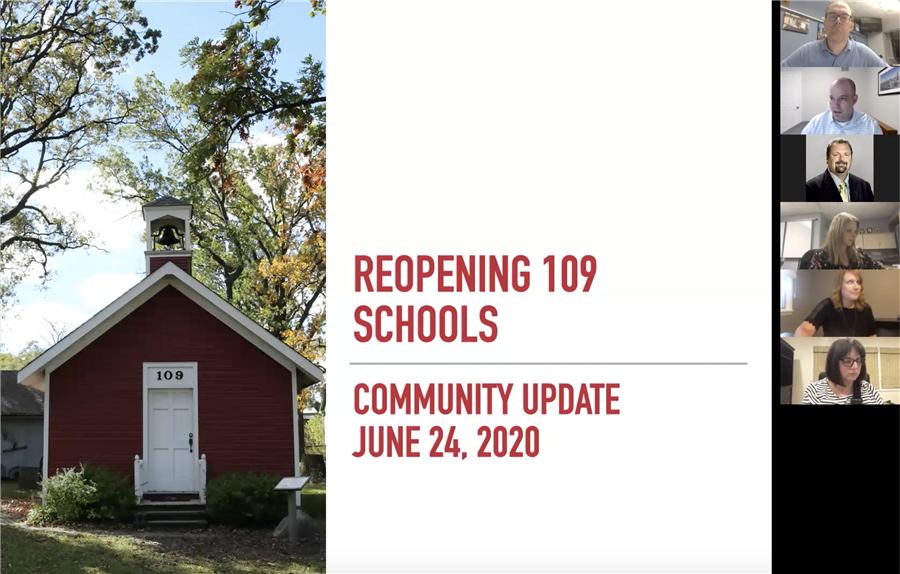 500+ Attend District 109 Virtual Community Update on School Reopening