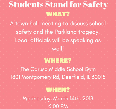 Students Stand for Safety Town Hall Meeting on 3/14
