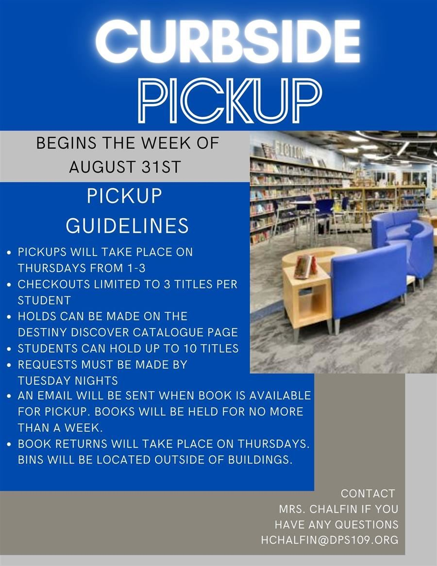Learning Commons Curbside Pickup Starts August 31
