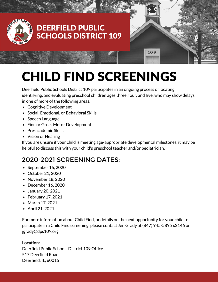 Child Find Screenings
