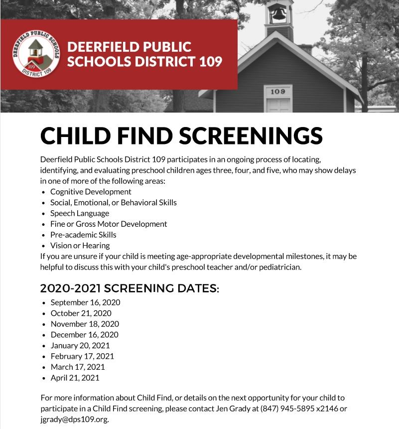 Child Finding Screenings